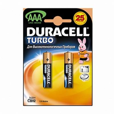 Батарейка AAA (R03) ТURBO Duracell