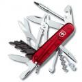 Нож Victorinox CYBER TOOL 34 полупрозрачный красный