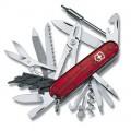 Нож Victorinox CYBER TOOL 41 полупрозрачный красный